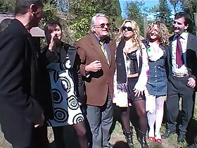 amateur porn - Hot sex picnic turn in a orgy directed by a dirty old man!