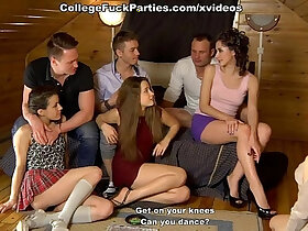 college porn - first sexual experiment on sex party