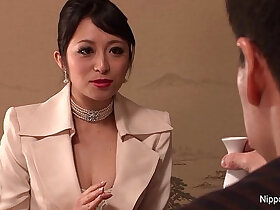 babe porn - Japanese babe in stockings gets team fucked