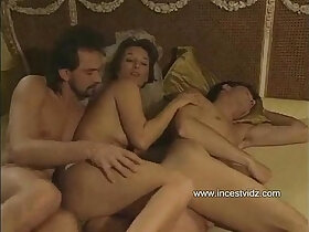 3some porn - Mom tries to entice her son into threesome with her boyfriend