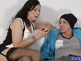 cock porn - Naughty cockriding glamour mature facialized