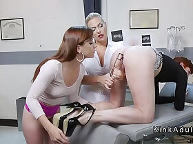 3some porn - Anal gaping and fisting lesbian threesome