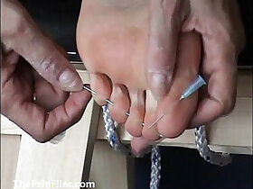 amateur porn - Extreme foot fetish and feet needle bdsm of mature amateur slave girl in harsh m