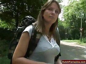interracial porn - Fucking A Dutch MILF In Holland Park