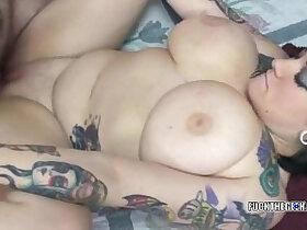coed porn - Tattooed coed Christine getting fucked