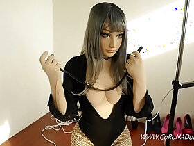 bondage porn - Doll self bondage Breath paly Fainted