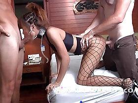 balls porn - Thai Milf gets cock and balls