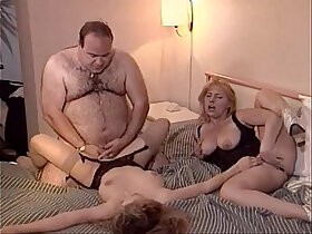chick porn - Lucky old fat man fucks two chicks