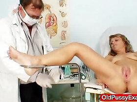 lady porn - Thin lady naughty twat gyno inspection