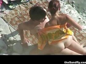 beach porn - theSandfly Public Beach Sex Spectaculer!