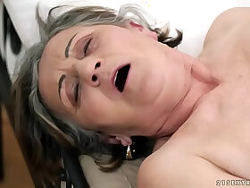 ass porn - Hairy granny and ass fucked deep
