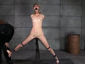 blonde porn - Slender Blonde In Device Bondage
