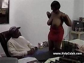 big tits porn - Ebony mama comes for a casting