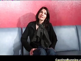 casting porn - french stepmoms first dp casting