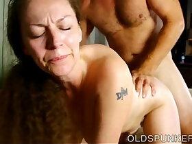 ass porn - Busty mature enjoys a hot fuck and a sticky facial cumshot