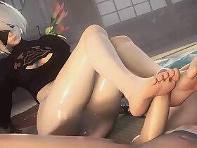 foot porn - Nier Automata Kinky FootJob