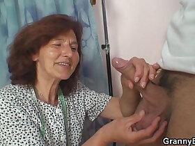 cock porn - Sewing granny takes cock