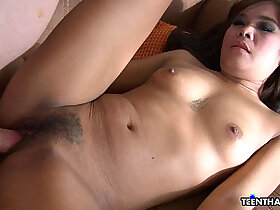 adorable porn - Adorable little Thai chick sucks a nice dick and gets banged