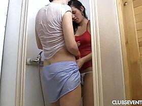 fun porn - Sexy lesbian teens have fun in shower