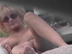 bald pussy porn - Nude Beach Voyeur porn Video Cougar MILF Naked At The Nude Beach