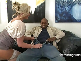 black porn - Horny cougar has a thing for huge monster black monster cocks