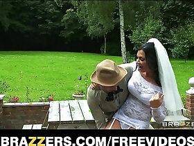 bride porn - Busty brunette bride Jasmine Jae fucks the brother of the groom
