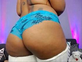 big tits porn - Big titty black teen girl wet in bathtub live