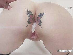 ass porn - Russian Babe Dayana Ice Loves Two Monster Cocks in Her Ass