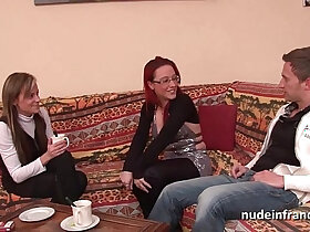amateur porn - FFM Pretty amateur milf fucked hard anal penetration for her casting couch