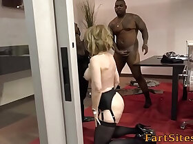 black porn - Old lady rides black dick