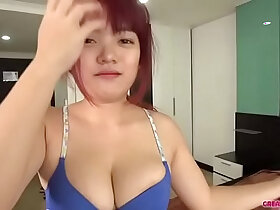 asian porn - I grabbed her boobs. Creampied. Sperm flowed out.