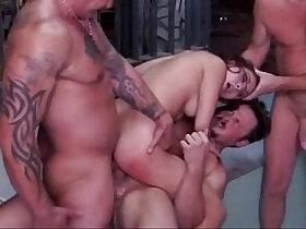 banged porn - Redhead Gang Bang