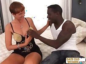 black porn - Slutty Granny Gets Black Cock
