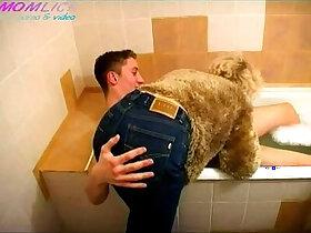 bathroom porn - pornvideo.rodeo mature gets fucked boy in bathroom