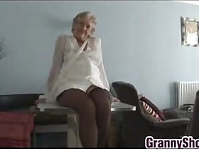 close up porn - Kinky Granny Teasing Her Mature Pussy