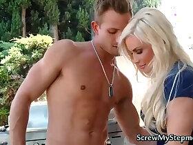 blonde porn - Busty Blonde Stepmom Diamond Tasts Fresh Dick
