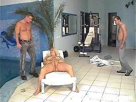blonde porn - Pool Guys Fucks Blonde