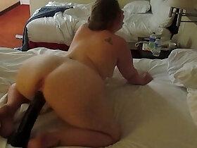 ass porn - Hot PAWG riding a huge black dildo