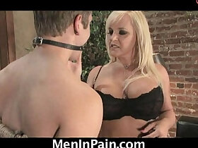 blonde porn - Hot blonde cougar orders a boy for delivery!