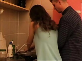 daddy porn - Daddys not daughter fucked in the Kitchen Video