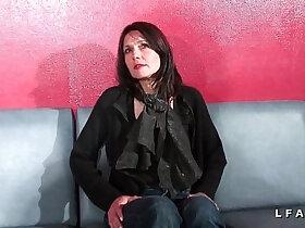 casting porn - Cougar francaise sodomisee et prise en double penetration pour son casting