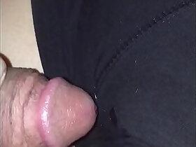 cum porn - sleeping wife gets facial cumshot on her shorts