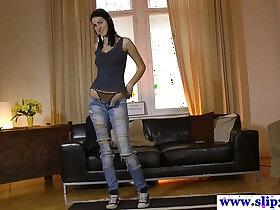 casting porn - Tall euro student pov casting cock riding