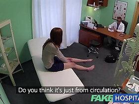 creampie porn - Fake Hospital Innocent redhead slut gets creampie prescription