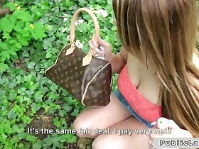 babe porn - Babe flashing boobs and banging in public for cash