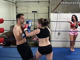 domination porn - Femdom Boxing Beatdowns Wimp Gets Dominated