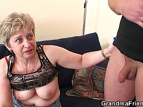 3some porn - Old threesome orgy after masturbating
