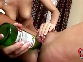 bottle porn - Eufrat and Jana use beer bottles to pleasure each other