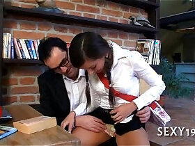 drilling porn - Wild with mature tutor