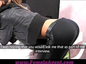 agent porn - FemaleAgent Casting creampie for teasing agent